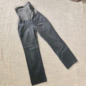 5/$25 Maternity gray chino pants